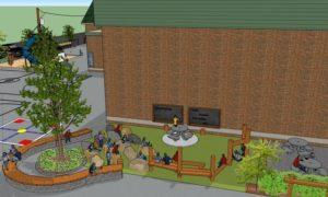 Classe extérieure du futur parc école