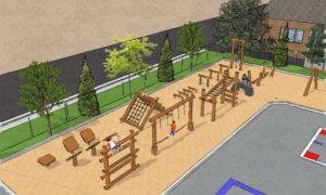 Parcours d'hébertisme du futur parc école